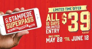 Julio 7 al 16 2017 - Calgary - Stampede SuperPass