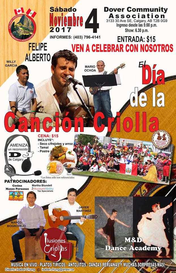 Dia de la cancion criolla Calgary AB-Comunidad peruana en Calgary